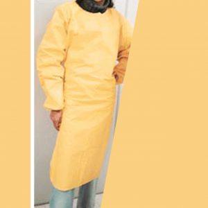 Avental para reuso amarelo
