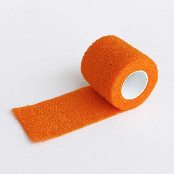 Bandagem Elástica Autoaderente 50mm laranja