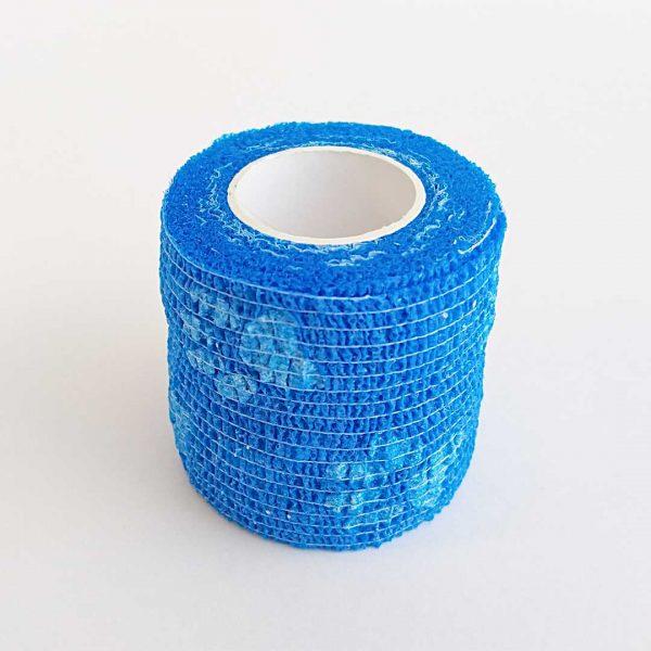 Bandagem Elástica Autoaderente 50mm azul patinhas
