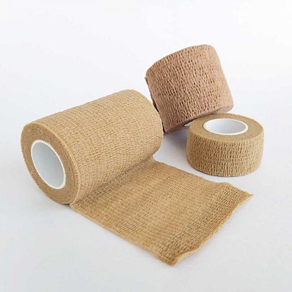 Bandagem Elástica Autoaderente tamanhos bege